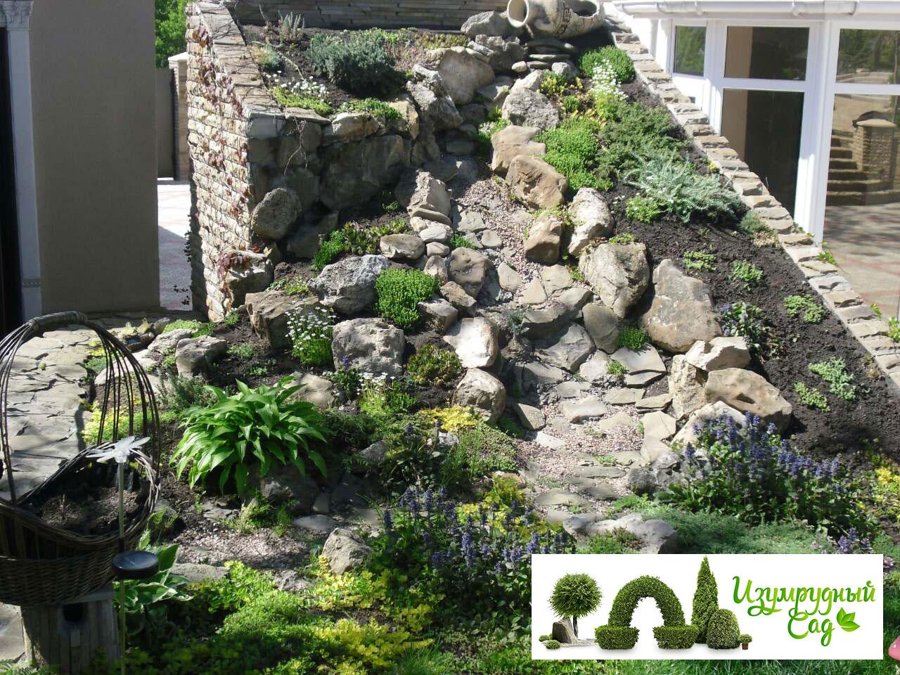 Ландшафтная горка из камней-Портфолио