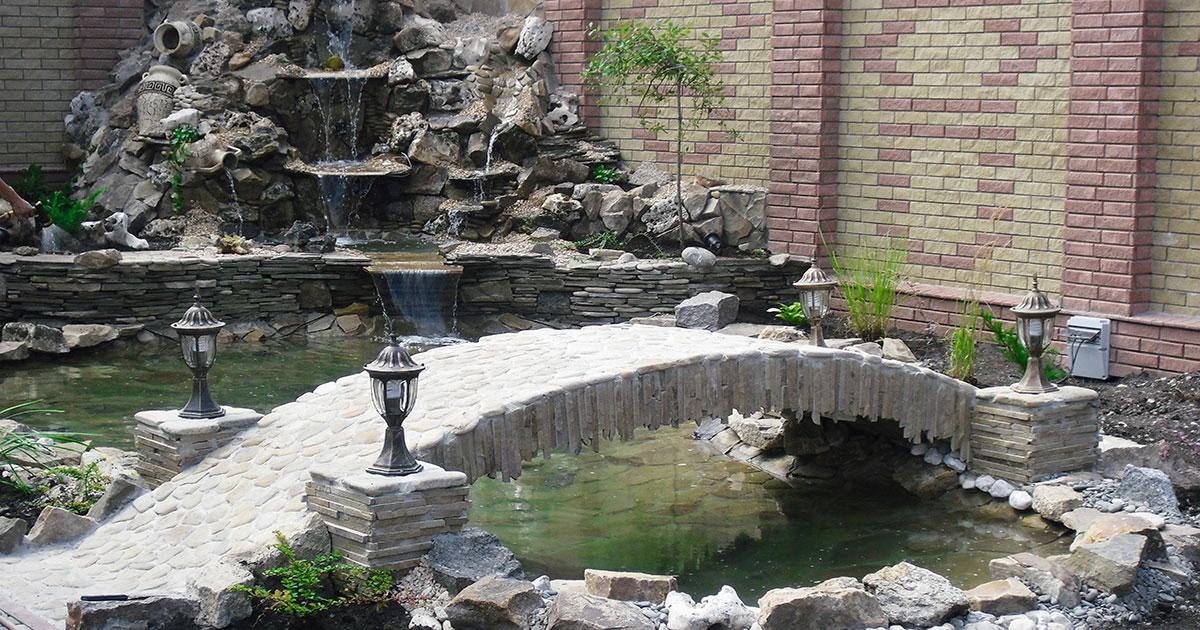 Создание декоративных водоемов и мостиков